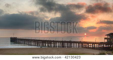 Sunset At Dusk Ventura Pier California
