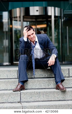 Unhappy Businessman