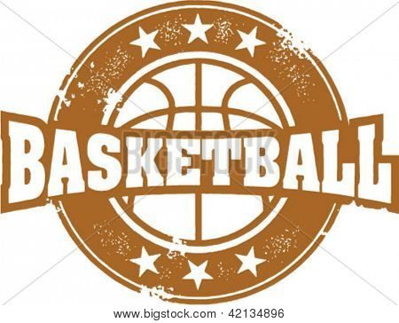 Vintage Basketball Sport Stamp