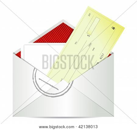 Blank Check In Envelope
