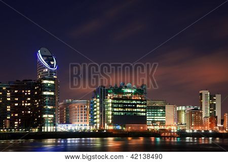 London City General Skyline At Night