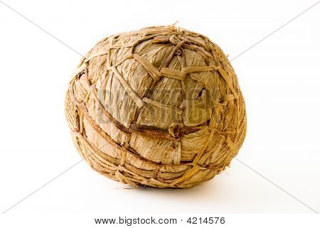 African Soccer Ball Made Of Banana Leaves