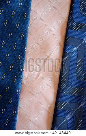 Cravat Tie Scarfs Texture Blue Pink Background