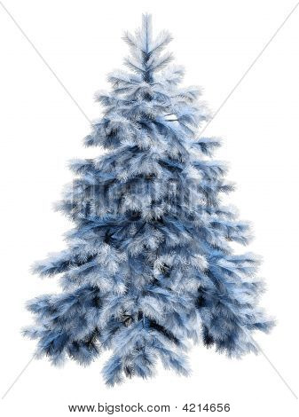 Blue Christmas Tree With Clipping Path
