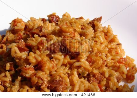 Cajun Jambalaya On White