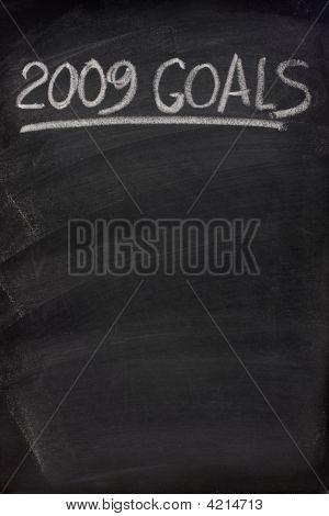 2009 Goals Title On Blackboard