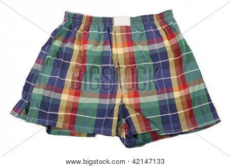 Colorful plaid boxer shorts