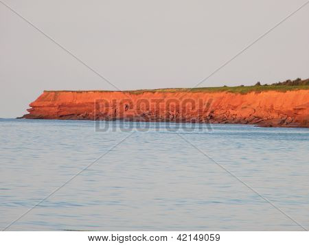 Red Sand and Ocean