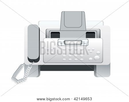 Abstract Fax Machine Icon
