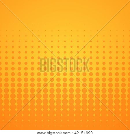 Orange Halftone Pattern
