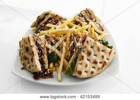 Club Sandwich With Gyros