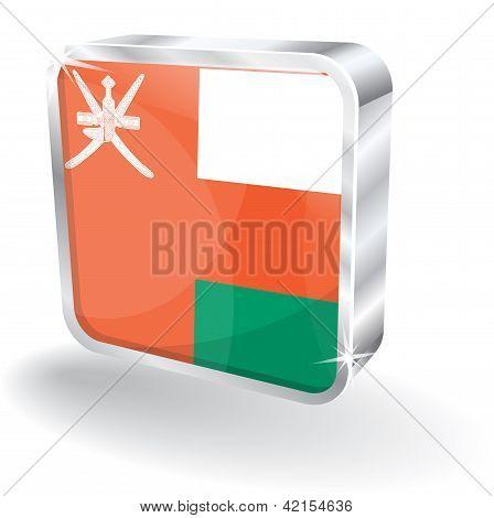 3d Oman Flag Vector Icon