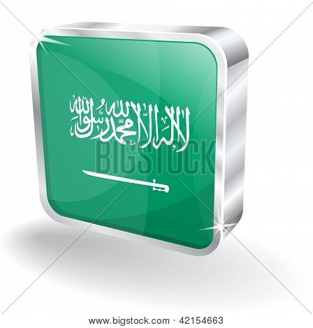 3d Saudi Arabia Flag Vector Icon