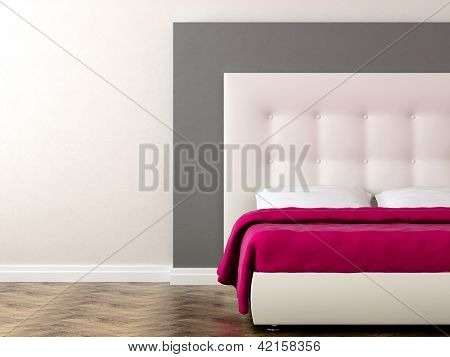 Bed With Pink Blanket