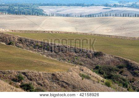 Crete Senesi - The landscape of the Tuscany. Italy