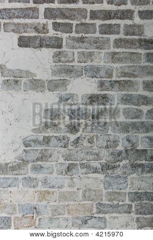 Closeup Photo Of Whitewash Brick Wall