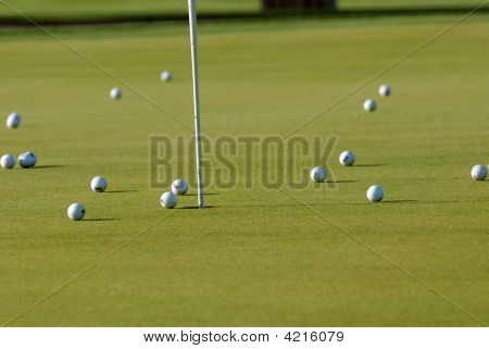 Range Balls On Green