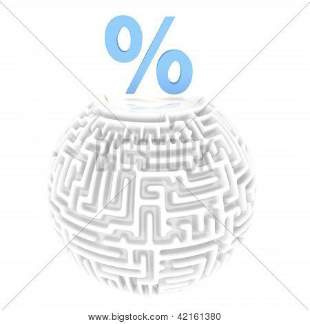 tricky percent pictogram