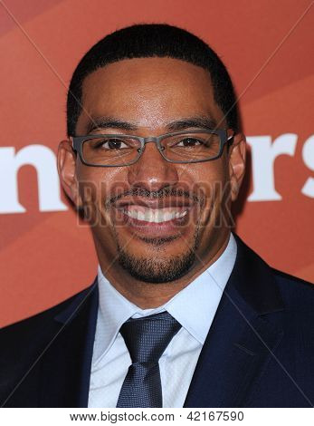 LOS ANGELES - JAN 06:  Laz Alonso arrives to the NBC All Star Winter TCA 2013  on January 06, 2013 in Pasadena, CA