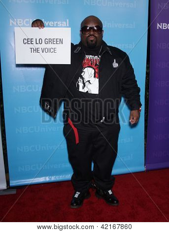 LOS ANGELES - JAN 06:  CEE LO GREEN arriving to TCA Winter Press Tour 2012: NBC Party  on January 06, 2012 in Pasadena, CA
