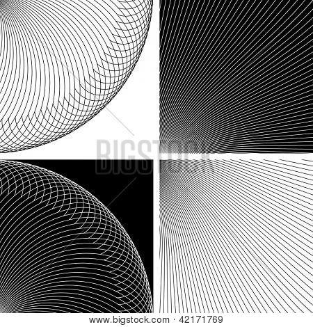 Abstract backdrops set. Vector art.