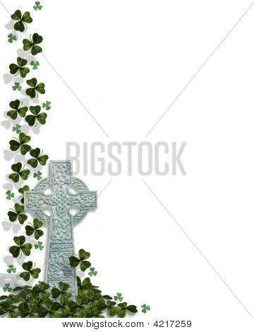 St Patrick'S Day Border Celtic Cross