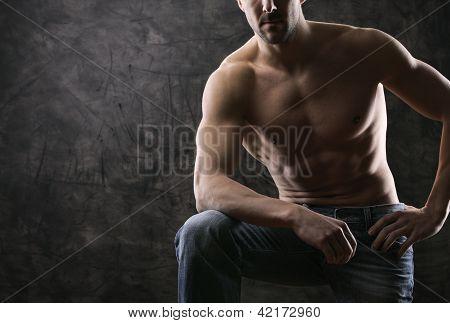 Trained Body Wearing Demim