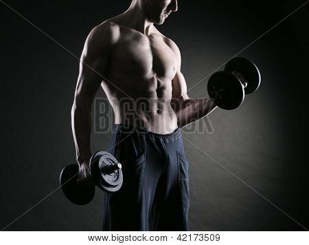 Ejercicio de bíceps con mancuernas