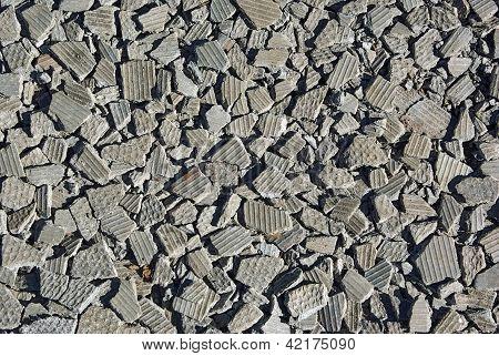 Small Pieces Of Brocken Asbestos Plate