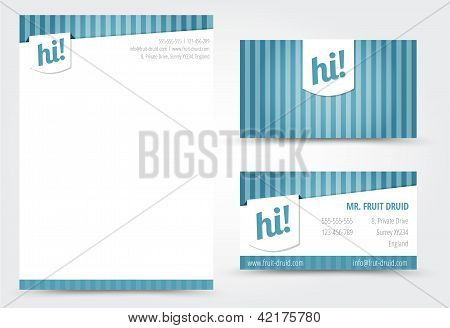 Business Cards And Letter Template