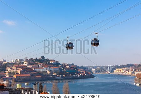 Cable Car In Porto, Portugal