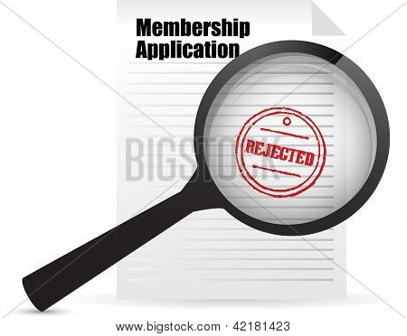 Membership Application Rejected And Magnifier