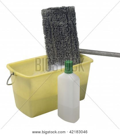 Cleaning Mop With Bucket And Cleaner