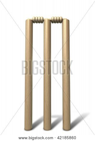 Cricket Wickets Front Isolated