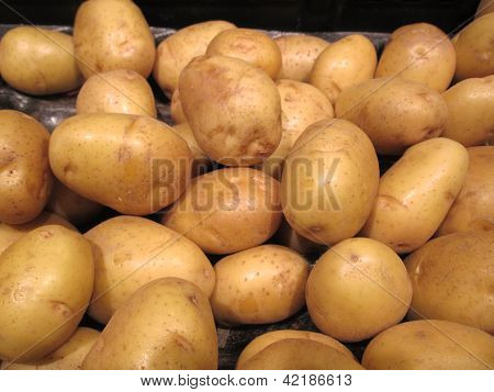 Potatoes Pattern Background