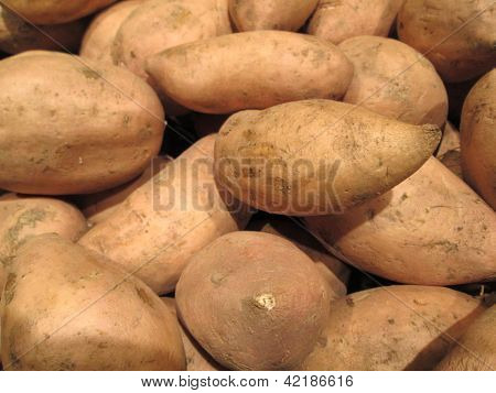 Sweet Potatoes Yam Pattern Background
