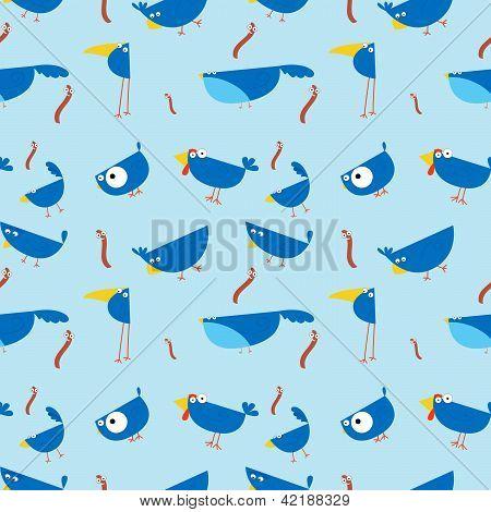 Birds seamless wallpaper