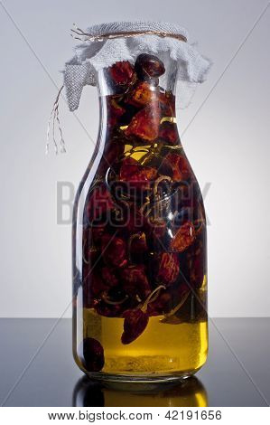 amazing fragrant spicy homemade infused chili olive oil