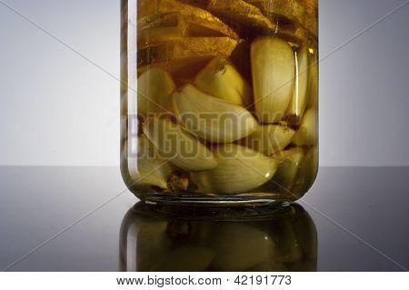increíble fragante ajo infundido casero picante jengibre aceite de oliva