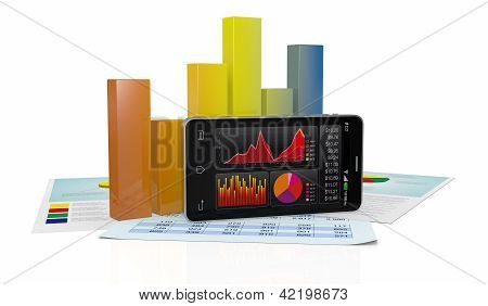 Stock Market And Technology, Concept