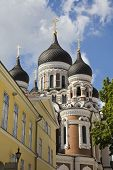 View of Alexander Nevsky Cathedral in Tallin, Estonia