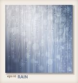 stock photo of rainy day  - Grey shiny rain - JPG