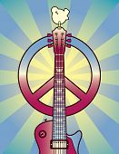 picture of woodstock  - An illustration of a guitar - JPG