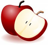 picture of seed bearing  - An Illustration of Apples with Clipping Path - JPG