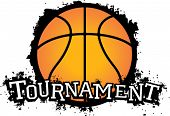 Basketball Tournament Vector Graphic