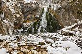 Постер, плакат: Gollinger водопады в зимнее время Австрия