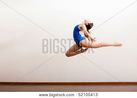 Ballet dancer up in the air