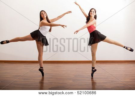 Dancing ballet together