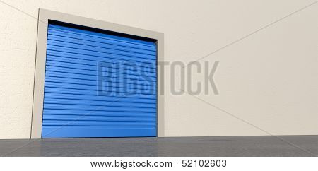 Storage Door And Wall Closed