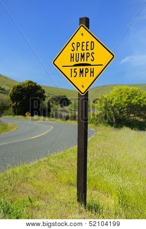 Speed limit posted a local state park